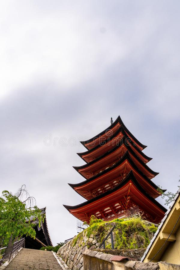 Traditional Tower of Japan stock photos