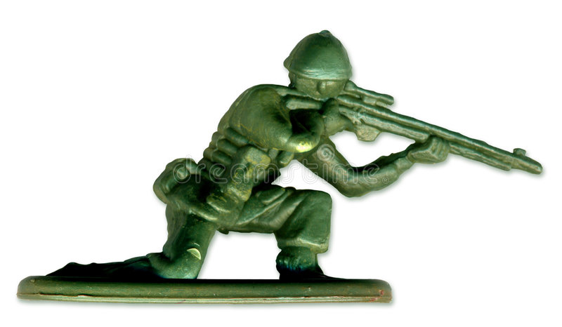 Traditional Toy Soldier. Scanned in high resolution to allow for printing at large size and extreme detail. includes clipping path royalty free stock photos