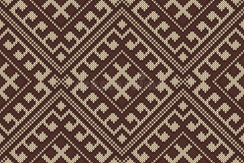 Traditional Tribal Aztec Seamless Pattern On The Wool Knitted ...