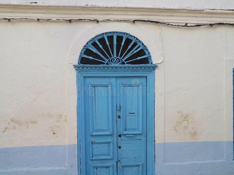 Traditional Tunisian door. Seen in the Medina of Tunis, Capital of Tunisia royalty free stock image