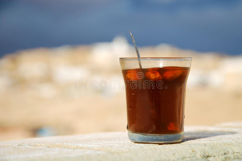 Traditional Tunisian rosemary tea with almonds