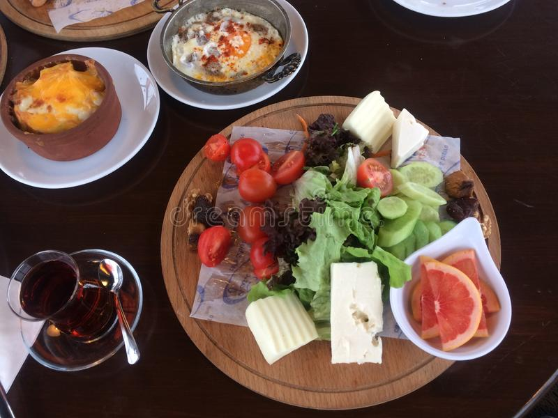 Traditional Turkish Breakfast royalty free stock photos