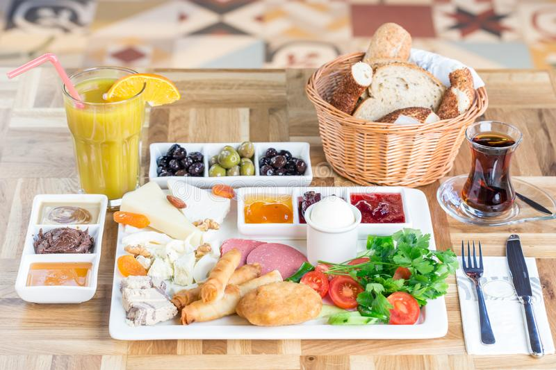Traditional Turkish Breakfast stock photography