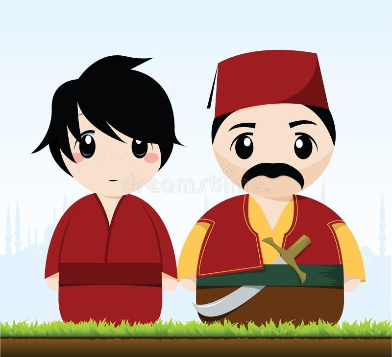 Traditional Turkish Couple vector illustration