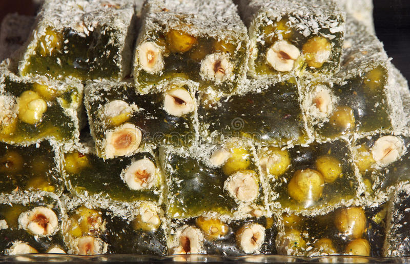 Traditional Turkish Delight royalty free stock images