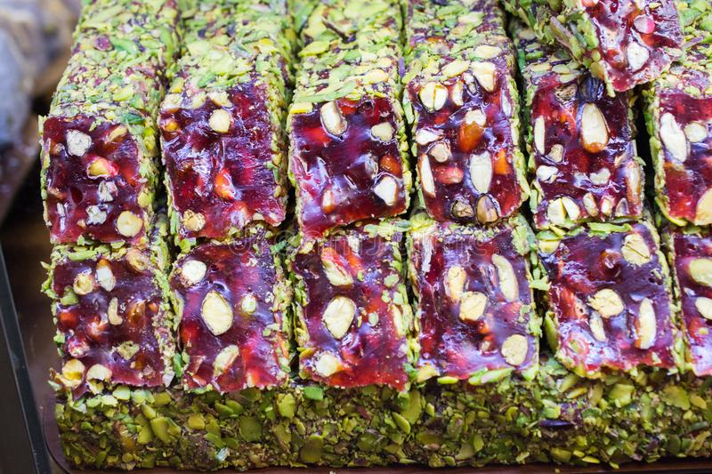 Traditional turkish delight lokum candy. Load of traditional turkish delight lokum candy stock images