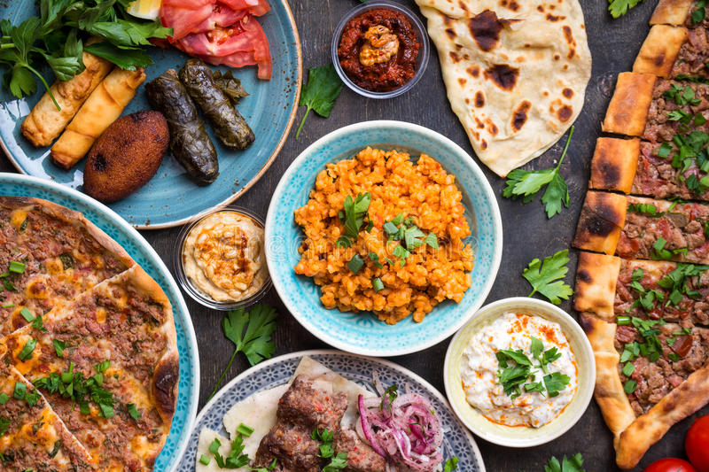 Traditional turkish dishes royalty free stock image