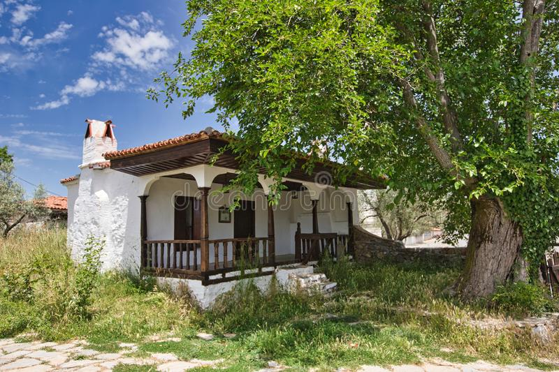 Traditional turkish house in turkey. At sunny day stock photos