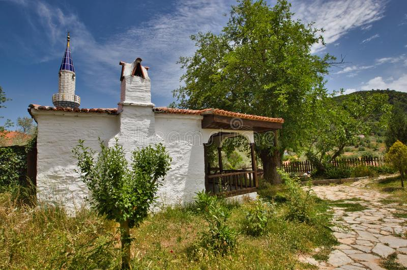 Traditional turkish house in turkey. At sunny day stock photo