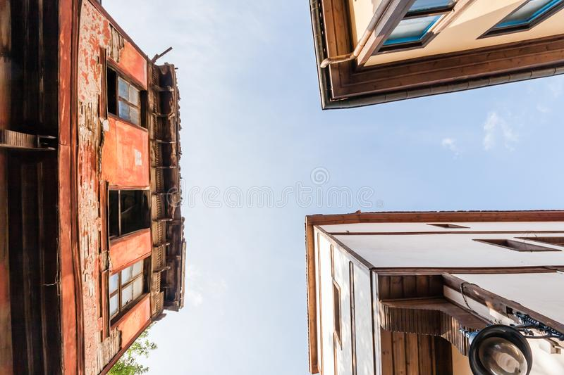 Traditional Turkish House Under Restoration and Renovation. Works in Eskisehir stock photos