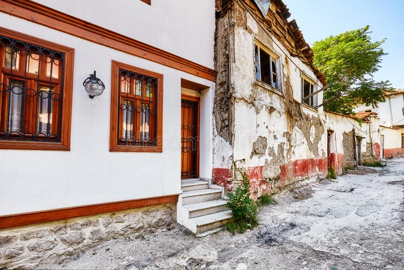 Traditional Turkish houses in Hamamonu royalty free stock photos