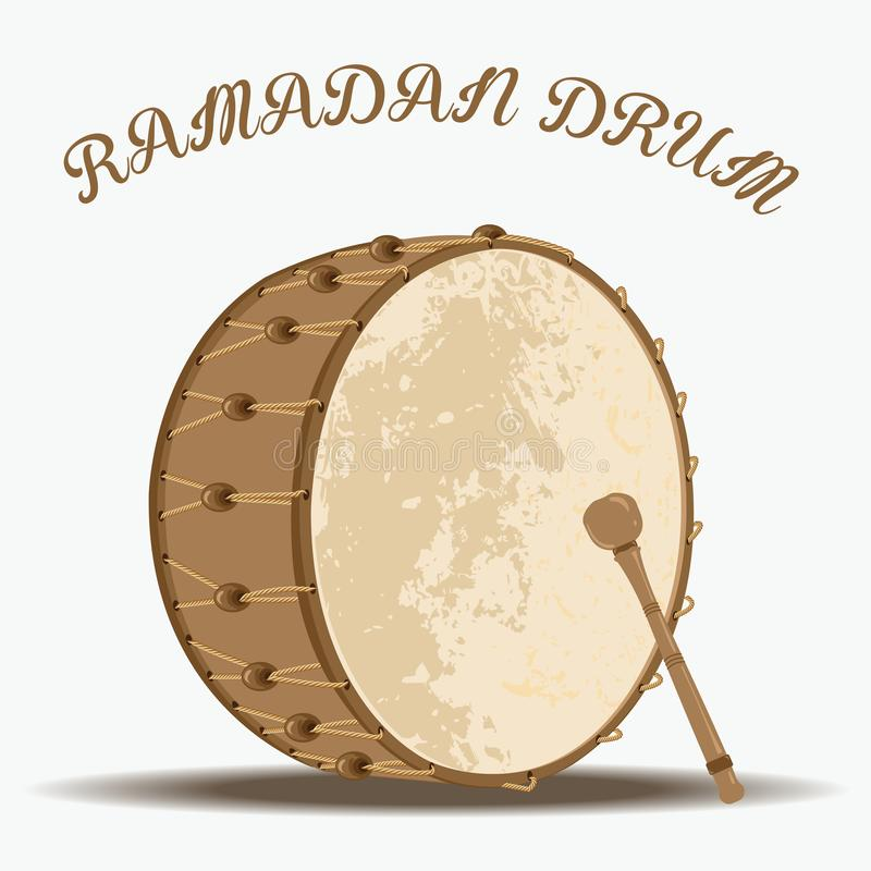 Traditional Turkish ramadan drum royalty free illustration