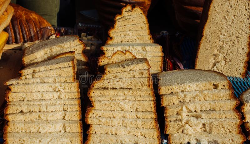 Traditional Turkish style made bread royalty free stock photos