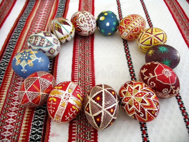 Ukrainian easter eggs stock image