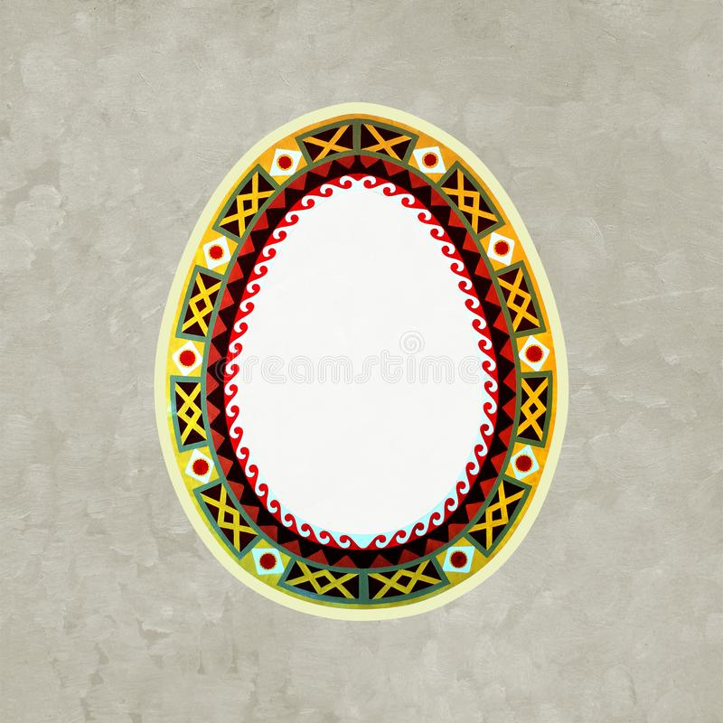 Traditional ukrainian folk art ornament. Easter egg. Background royalty free stock photos