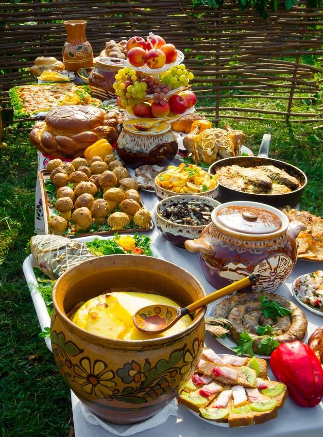 Traditional ukrainian food stock photo