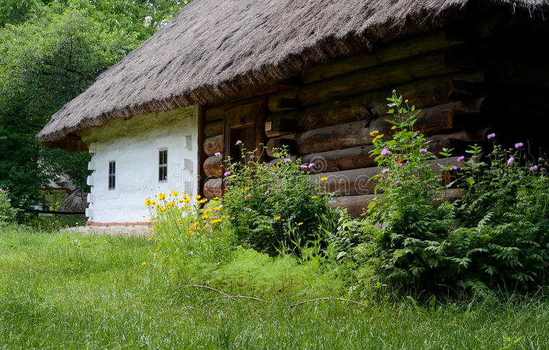 Download Traditional Ukrainian Rural House Summertime Stock Photo - Image of antique, culture: 83721634