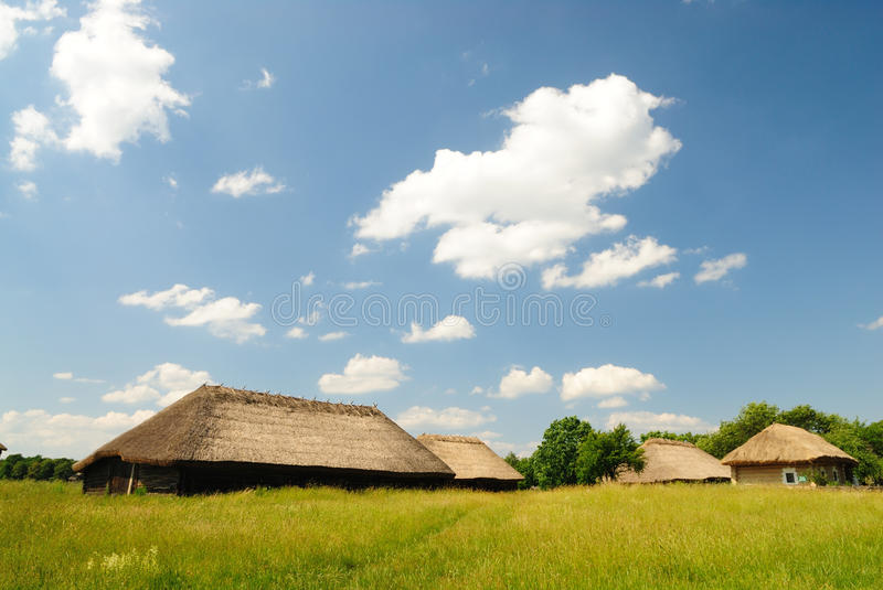 Traditional ukrainian village. Museum of traditional ukrainian culture Pirogovo royalty free stock photography