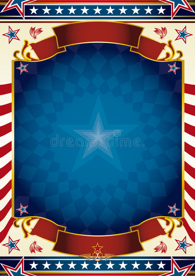 Traditional US poster background royalty free stock photo