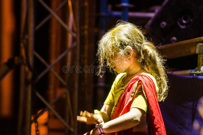 Traditional Vaishnava Vedic festival - the festival of chariots of Ratha Yatra in the Dnieper. In Urkain in the city of Dnipro on May 19, 2018, the traditional royalty free stock images