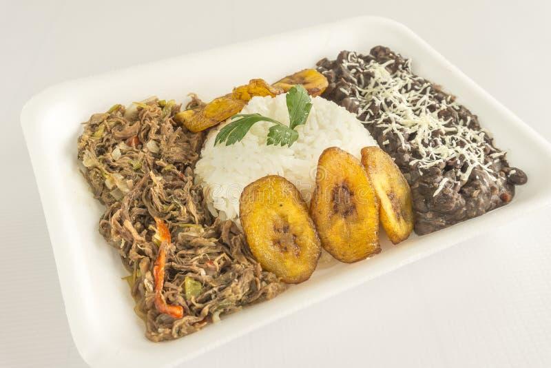 Traditional Venezuelan dish called Pabellon Criollo.  stock photos