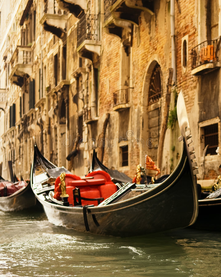 Traditional Venice gondola ride stock photos