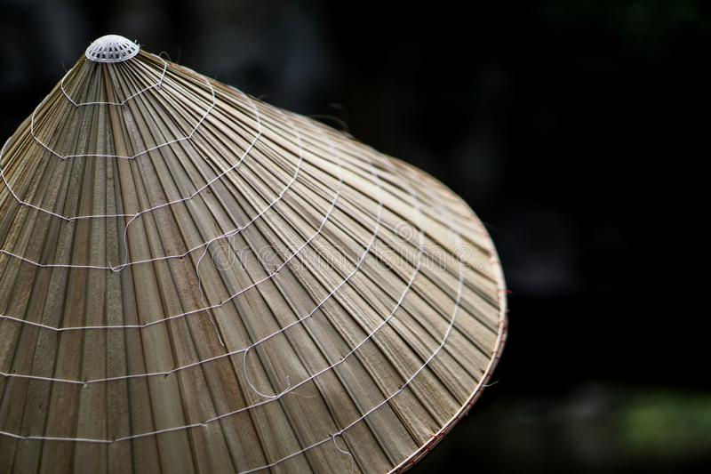 Traditional Vietnamese colonial hat stock photos