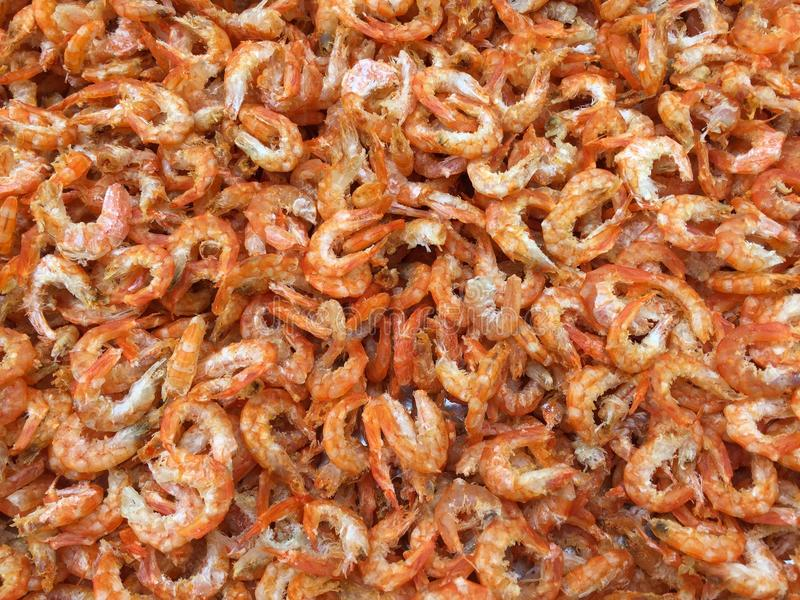 Traditional Vietnamese cuisine: dried shrimp royalty free stock photography