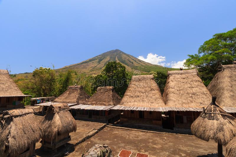 Bena traditional village, near Bajawa, Flores, Indonesia royalty free stock photography