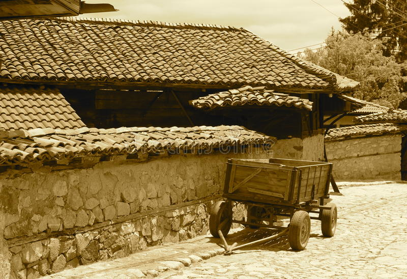 Traditional village stock image