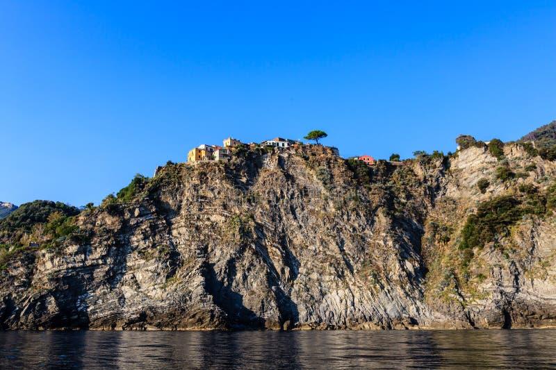 Traditional Village of Corniglia stock photo