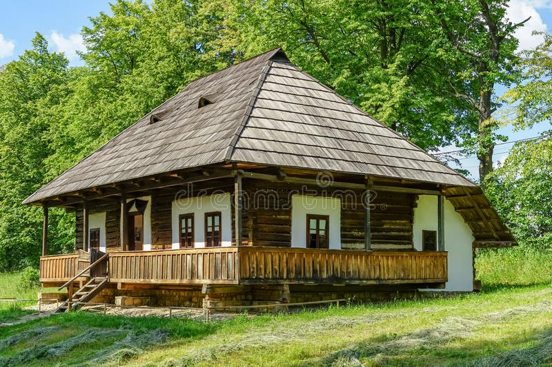 Traditional village house at Suceava royalty free stock photo