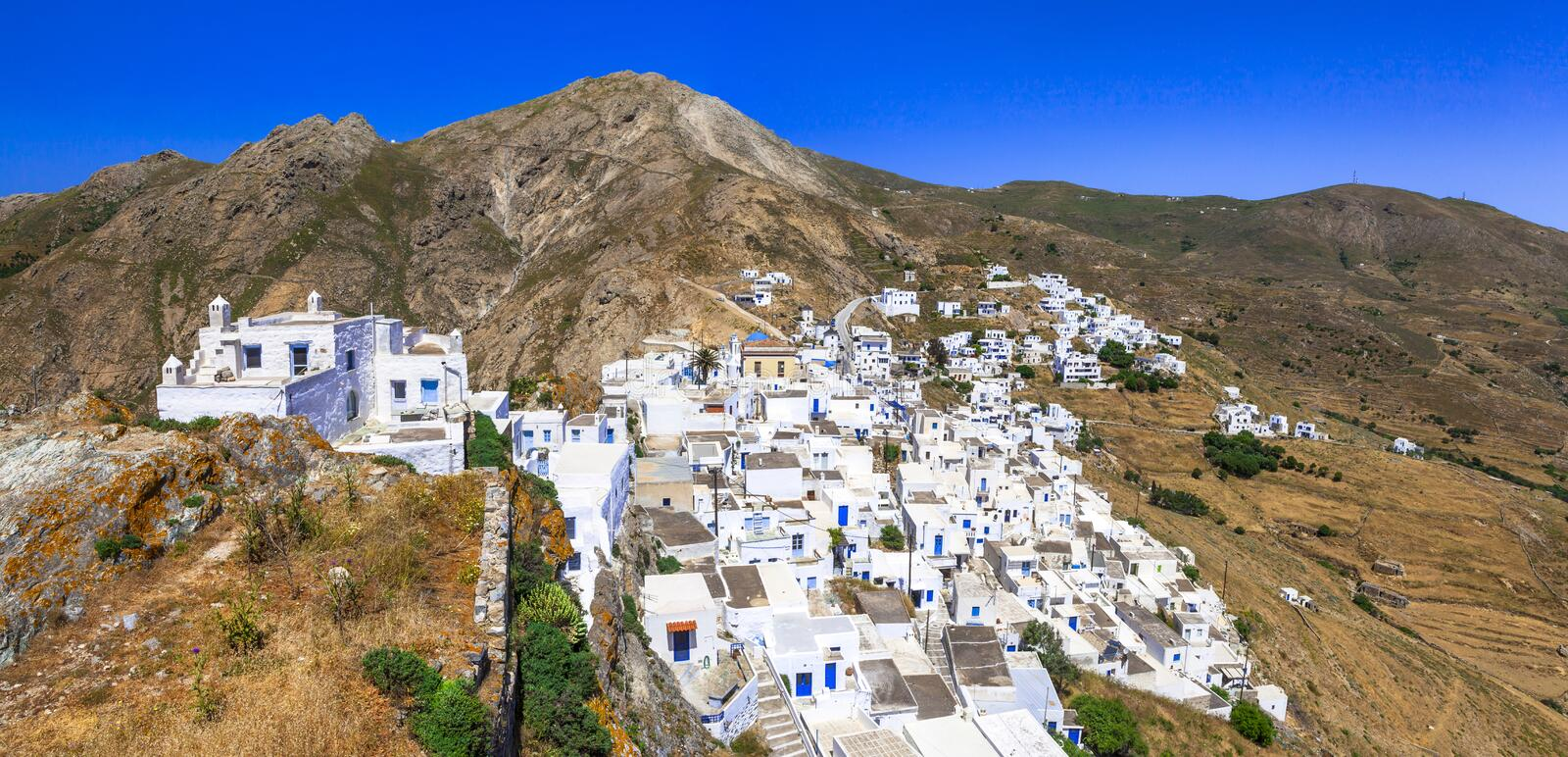 Traditional villages of Greece - Serifos. Island, Cyclades stock photo