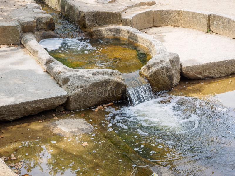 Traditional water filter system at Donggung Palace and Wolji Pond in Gyeongju. South Korea stock images