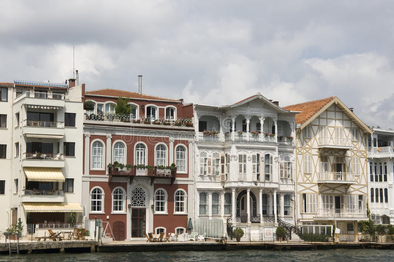 Traditional Waterfront Houses On The Bosphorus - Y Royalty Free Stock Image
