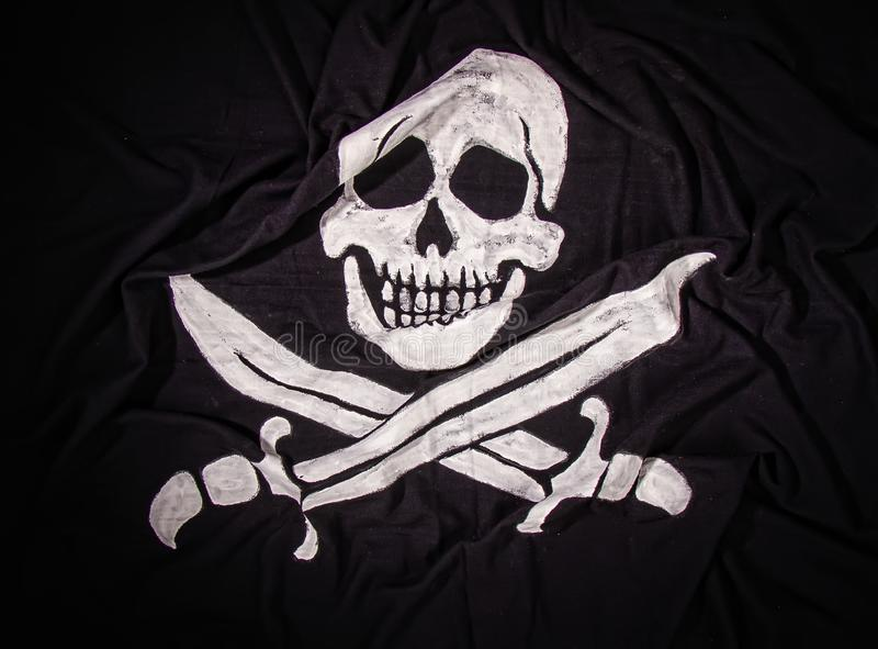 Jolly Roger Flag royalty free stock photo
