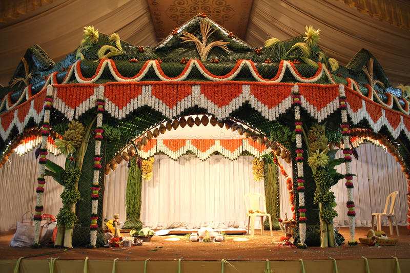 Traditional Wedding Stage Stock Photo Image Of India