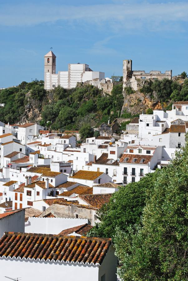 Traditional white village, Casares, Spain. royalty free stock images