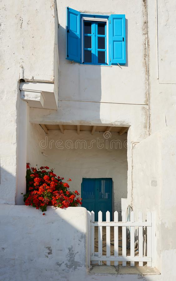 Traditional whitewashed houses at Astypalea island royalty free stock photos