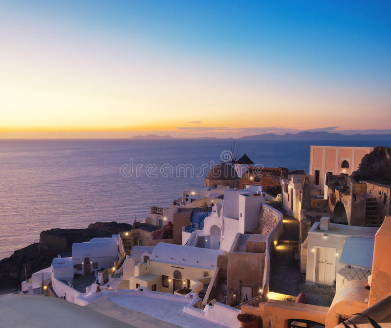 Windmill Apartments: Traditional Windmill And Apartments In Oia Village