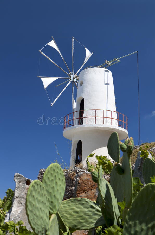Download Traditional Windmill At Crete, Greece Stock Photo - Image: 27839994