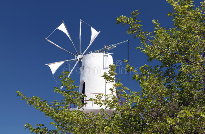 Download Traditional Windmill From Crete, Greece Royalty Free Stock Photos - Image: 27840148