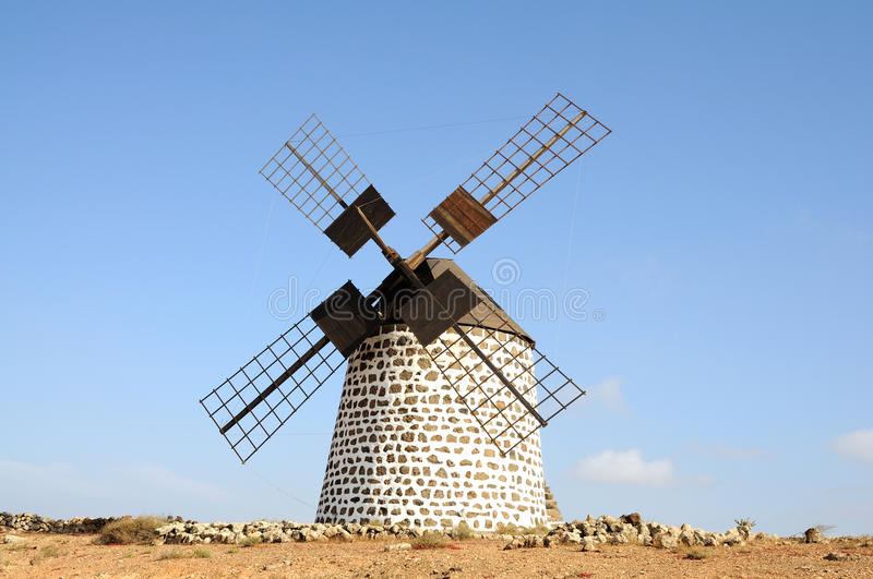 Download Traditional Windmill On Fuerteventura Stock Image - Image: 9915951