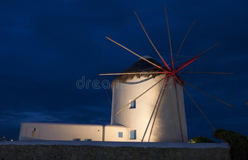 Traditional Windmill At Mykonos Royalty Free Stock Image