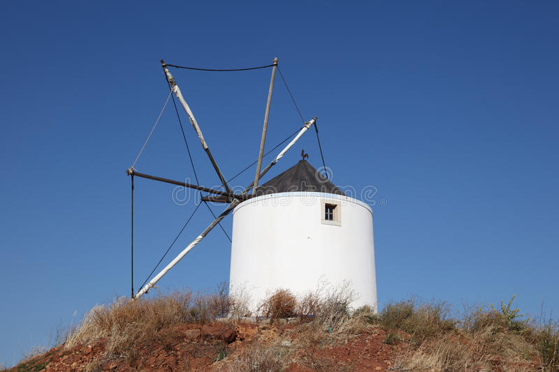 Traditional windmill in Portugal stock images