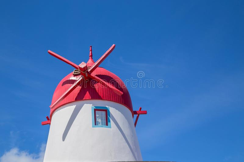 Windmill on Graciosa Island royalty free stock photos