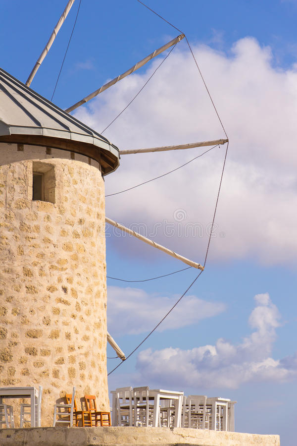 Traditional windmills in Alacati, Izmir province, Turkey. Traditional windmills in Alacati, Izmir province royalty free stock image