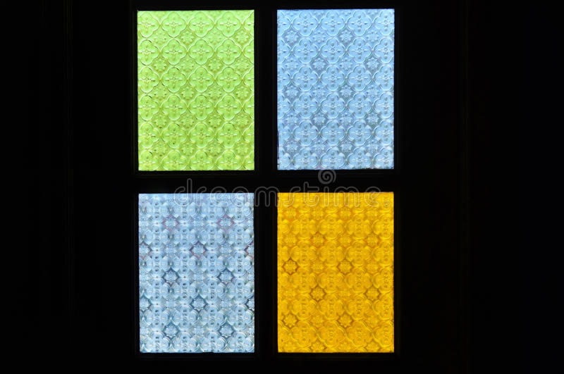 Traditional window of malay house illuminate by the bright sun o royalty free stock photos