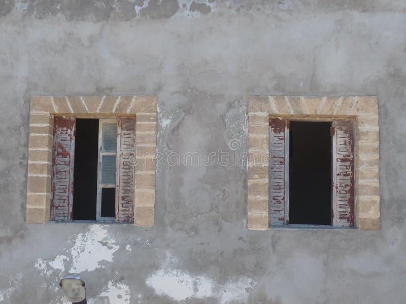 Traditional windows of a building in Essaouira, Morocco. Traditional windows of a building in the coastal city of Essaouira, Morocco stock photo