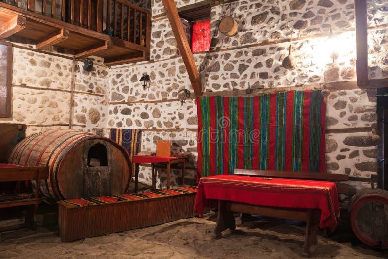 Traditional Wine Cellar stock image